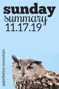 Sunday Summary: 11.17.19