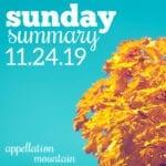 Sunday Summary: 11.24.19