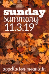 Sunday Summary: 11.3.19