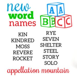 New Word Names for Boys