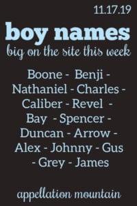 Boy Names: 11.17.19
