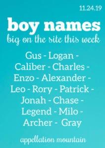 Boy Names 11.24.19