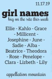 Girl Names: 11.17.19