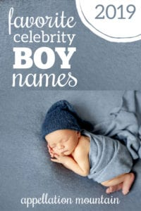 Favorite Celebrity Boy Names 2019
