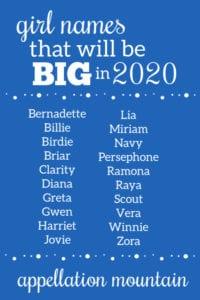 Girl Names 2020