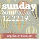 Sunday Summary: 12.22.19
