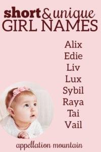 Name Help: Short Unique Girl Names