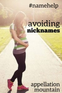 Name Help: Avoiding Nicknames