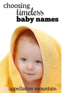Name Help: Timeless Names