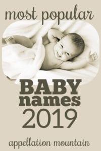 Popular Names 2019