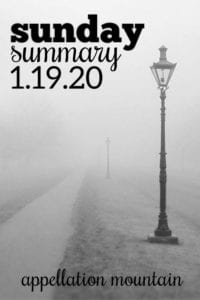 Sunday Summary: 1.19.20