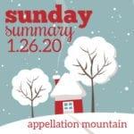 Sunday Summary: 1.26.20