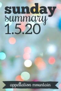 Sunday Summary: 1.5.20