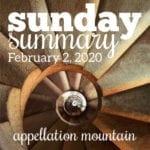 Sunday Summary: 2.2.20