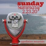 Sunday Summary: 2.23.20