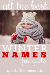 winter baby names for girls