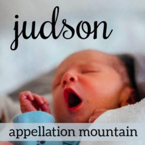 Judson: Baby Name of the Day
