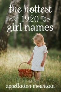1920 Girl Names