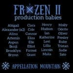 Frozen 2 production babies
