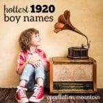 Hottest Boy Names 1920
