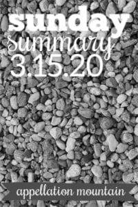Sunday Summary: 3.15.20