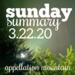 Sunday Summary: 3.22.20