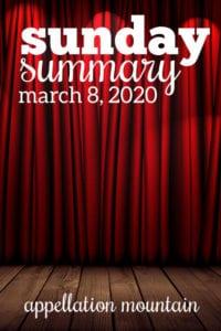 Sunday Summary: 3.8.20