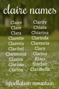 Claire Names