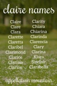 Claire Names