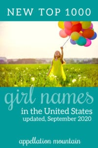new girl names top 1000