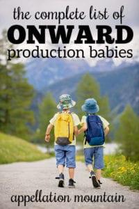 Onward Production Babies