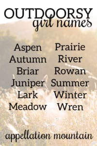 Outdoorsy Girl Names