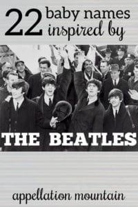 Beatles baby names