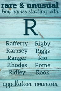 rare boy names starting with R