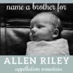 Name Help: A Brother for Allen Riley