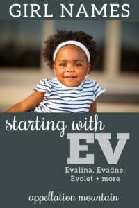 EV names for girls