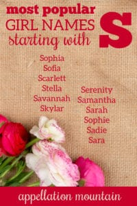 girl names starting with S