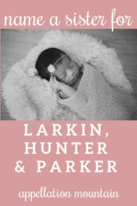 Name Help: A Sister for Larkin, Hunter, and Parker