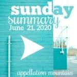 Sunday Summary: 6.21.20