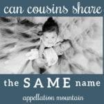 Name Help: Cousins Sharing Names