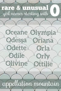 rare and unusual O names for girls