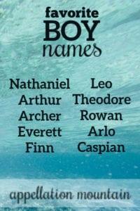 reader favorite boy names