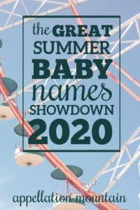 Great Summer Baby Names Showdown 2020: Boys SemiFinal Round
