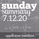 Sunday Summary: 7.12.20