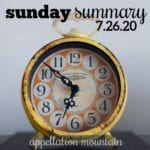 Sunday Summary 7.26.20