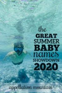 Summer Baby Names Showdown Boys Opening Round