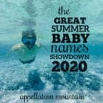 Summer Baby Names Showdown 2020: Boys Opening Round