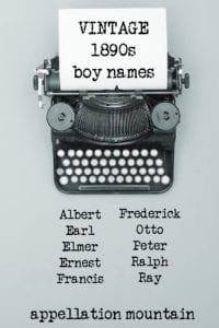 vintage boy names 1890s