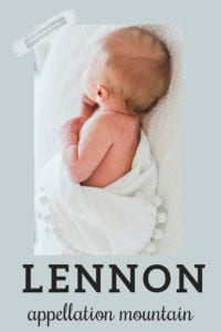 baby name Lennon