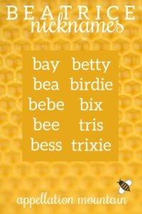Beatrice nicknames